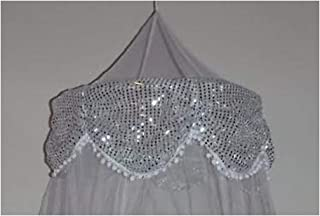 Sid Trading Princess Canopy with Sequins (White)