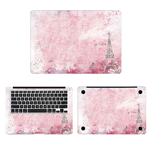 Pink Sakura Paris Laptop Sticker for Macbook Decal Pro Air Retina 11' 12' 13' 15' Mac HP Surface Book Protective Full Cover Skin,ACD side,Pro 16 inch
