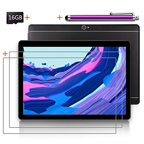 LNBEI Android Tablet 10 inch with SIM Card Slot Unlocked +16GB SD Card +(1) Stylus Pen - IPS Screen 3G Phablet with WiFi GPS Bluetooth Tablets (Black)