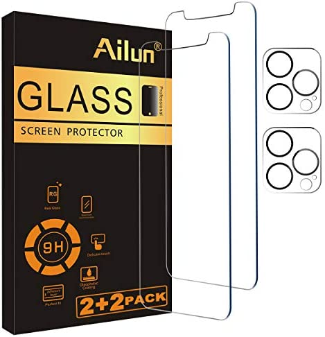 Ailun 2Pack Screen Protector Compatible for iPhone 12 Pro 6 1 inch 2 Pack Camera Lens Protector product image