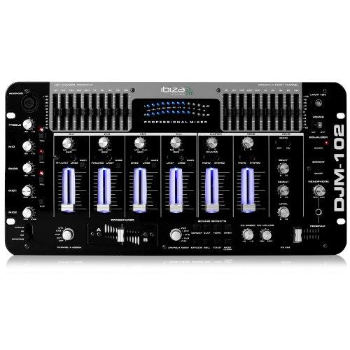 Ibiza DJM102-SB Table de mixage Noir