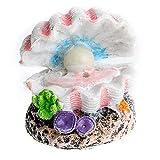 LEPSJGC Shell Pearl & Air Stone Adorno de Tanque de Peces de Acuario Shell Bubbler Decoración burbujeante