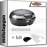 kappa maleta k49nt 47 lt + portaequipaje monokey compatible con triumph bonneville t100 2020 20