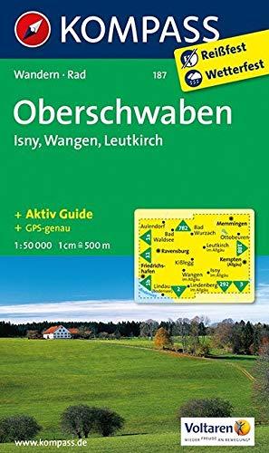 KOMPASS Wanderkarte Oberschwaben - Isny - Wangen - Leutkirch: Wanderkarte mit Aktiv Guide und Radrouten. GPS-genau. 1:50000 (KOMPASS-Wanderkarten, Band 187)