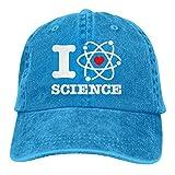 SOTTK Hombre Mujer Gorras de béisbol, Adjustable Vintage Jeans Baseball Cap I Love Science Dad Hat...