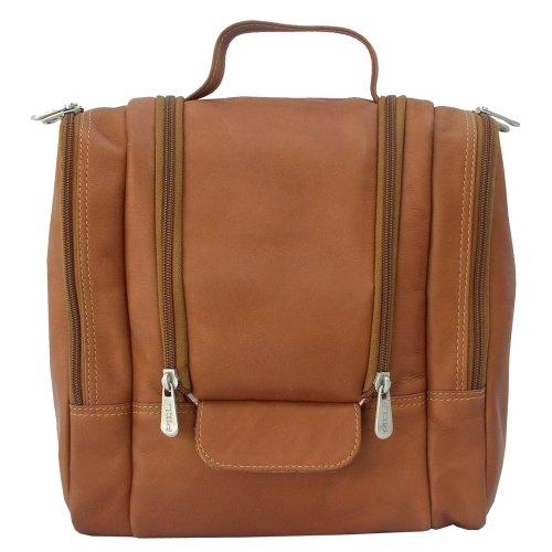Piel Leather Hanging Travel Toiletry Kit, Saddle, One Size