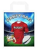 Bolsas para fiestas temáticas de rugby, para botín, eventos, colores escarlatas, 6 unidades