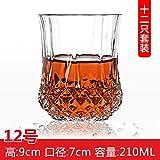 Gaocristal Glass 6 Juego De Botellas De Vino De Whisky De Taza Con Licor De Cerveza Enólogo Cubierto Set De Copa Whisky 12
