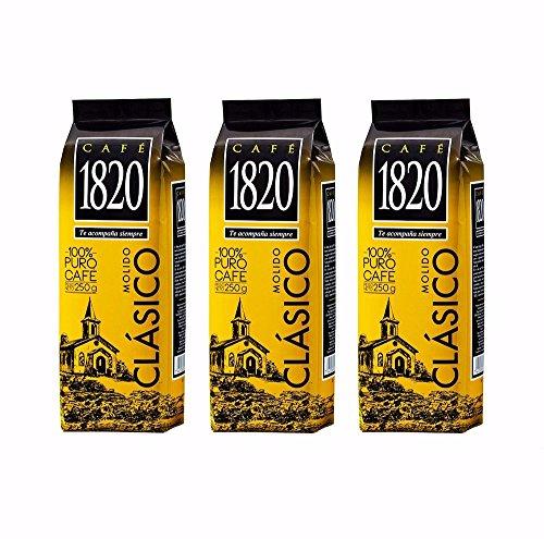 Cafe 1820 Molido - Costa Rica Gourmet Ground Premium Coffee - 8.8 oz (250 gr) 3 Pack