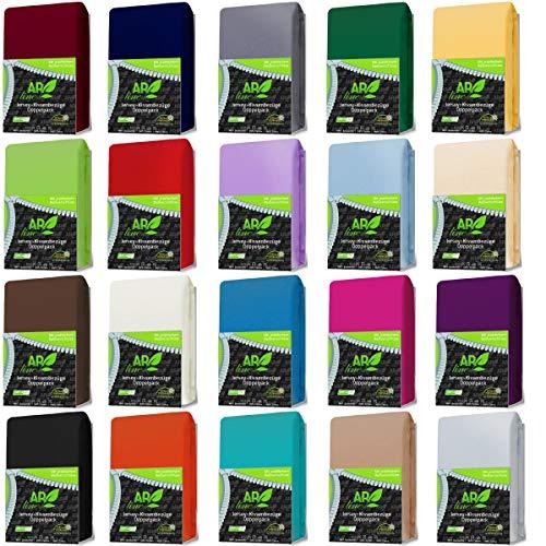 AR Line 2er Pack Jersey Kissenbezug mit Reißverschluss 100% BW 160 Gr/m² Kissenhülle, Farbe:Gelb, Größe:40 x 80 cm