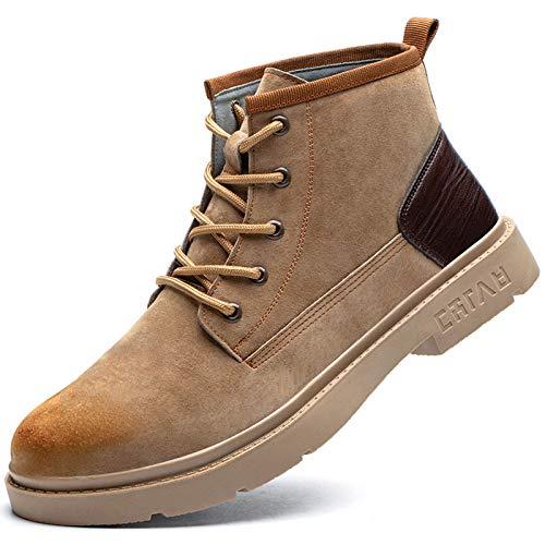 Dxyap Botas para Hombre de Seguridad Transpirable Puntera de Acero Zapatos de Trabajo Senderismo Plantilla de Protección Unisex-Adulto S1P,Camel,38EU