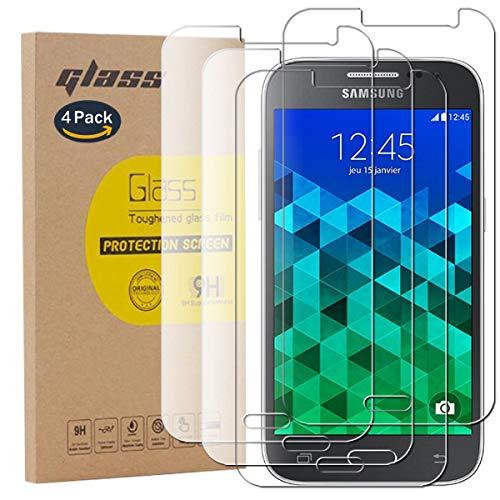 pinlu [4 Pack Protector de Pantalla de Cristal para Samsung Galaxy Core...
