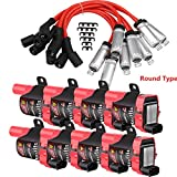 Carbole 8 Pack D585 Ignition Coil Pack and 748UU 8mm Spark Plug Wires For Chevy Silverado ...