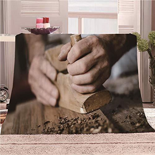 Manta De Cama 3D Carpintería Manta Reversible Suave y Esponjosa De Lana Estampado Manta de Dormitorio para Cama Infantil Individual Matrimonio 150x200cm