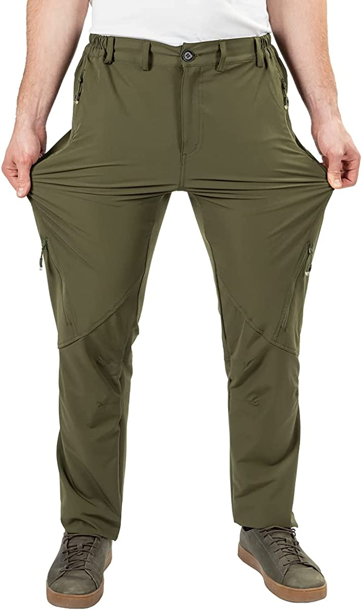 Postropaky Mens Hiking Quick Dry Lightweight Waterproof Fishing Pants Outdoor Travel Climbing Stretch Pants : Sports & Outdoors