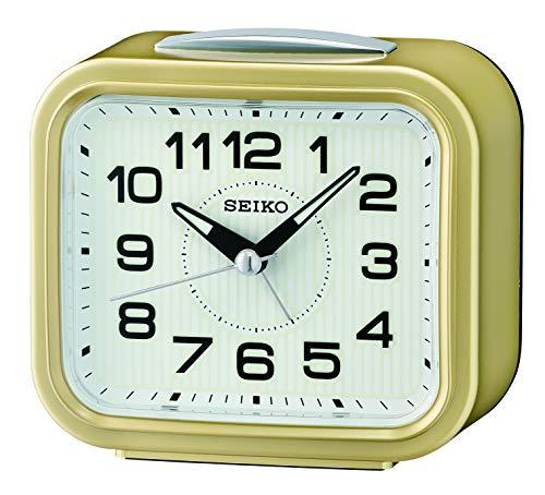 Seiko Clocks Wecker, Kunststoff, Gold, 9.3 x 10.5 x 5.4