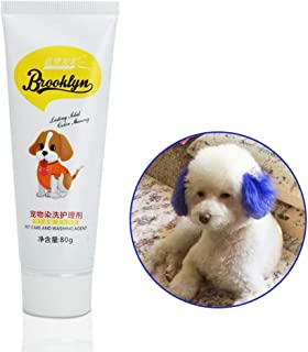 Dog Hair Dye, New Pets Hair Dye - Safe Bright/Hypoallergenic/Permanent Non-Toxic/Fun Shade, Dog Cat Hair Coloring Dyestuffs Dyeing Pigment Agent Supplies for Creative Grooming