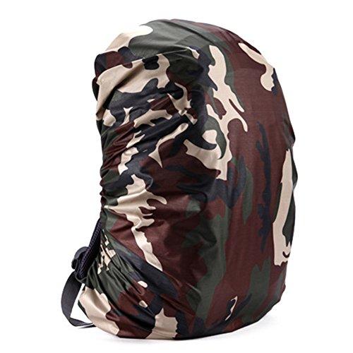 FairOnly Zantec Housse de protection pour sac à dos de pluie réglable étanche à la poussière portable ultralégère Sac de protection contre la pluie Protection pour l'extérieur, camping, randonnée, noir Road card camouflage 45 l