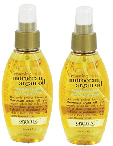 Price comparison product image Ogx Moroccan Argan Oil Weightless Dry Oil 4 Ounce (118ml) (2 Pack)