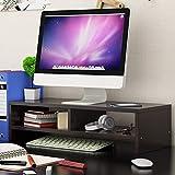 LHQ-HQ Escritorio Monitor Riser Soporte Pantalla de Ordenador Vertical de Madera Estante Plinto Fuerte Laptop Stand Holder Escritorio for TV portátil (Color : Blue)