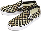 Vans Unisex Classic Slip-ON (Checkerboard) CAMO Desert/True White Mens 6/Womens 7.5