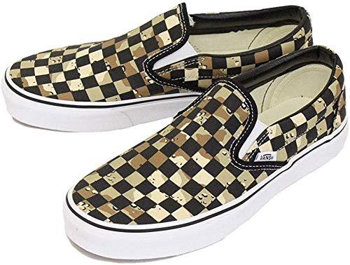 Vans Unisex Classic Slip-ON (Checkerboard) CAMO Desert/True White Mens 12