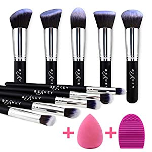Beauty Shopping BEAKEY Makeup Brush Set, Premium Synthetic Kabuki Foundation Face Powder Blush Eyeshadow Brushes Makeup Brush Kit with…