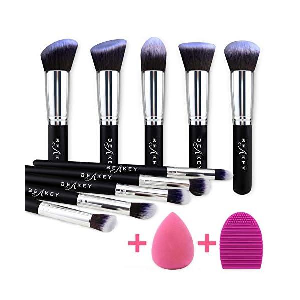 Beauty Shopping BEAKEY Makeup Brush Set, Premium Synthetic Kabuki Foundation Face Powder Blush Eyeshadow