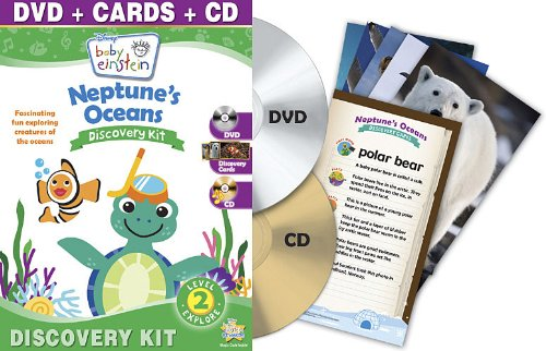 Baby Einstein: Neptune's Oceans Discovery Kit (One-Disc DVD + CD + Discovery Cards)