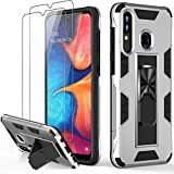 LUMARKE Galaxy A20 Case,Galaxy A30 Case with Glass Screen Protector,Military Grade 16 ft. Drop Tested Cover,Built-in Functional Kickstand Protective Phone Case for Samsung Galaxy A20 /A30 White