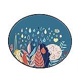 Adorable Animal Imprimé Chambre d'enfant Tapis Rond Tapis De Sol Tapis De Lit BéBé Escalade Tapis De Chambre 60x60cm par Anliyou