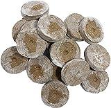 Jiffy Macetas hinchables de turba 1000 Piezas de esquejes Recolección - Pastillas hinchables de Tierra de Coco Tierra de Cultivo Sembrar la Tierra Pastilla de turba Esquejes de Tomate