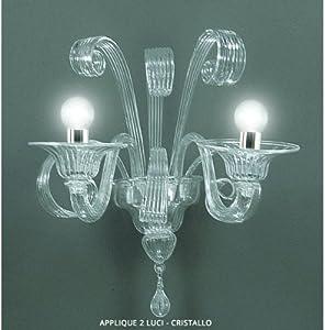 Lower Laguna lámpara de pared de cristal de 2 luces
