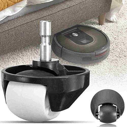 51C0tL6 kaL - Italdos 2X Rueda Delantera para iRobot Roomba Serie 500 600 700 800 900 Ruedecilla Giratoria + 2 Pinceles