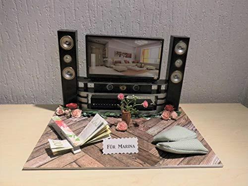 Geldgeschenk Stereoanlage oder TV
