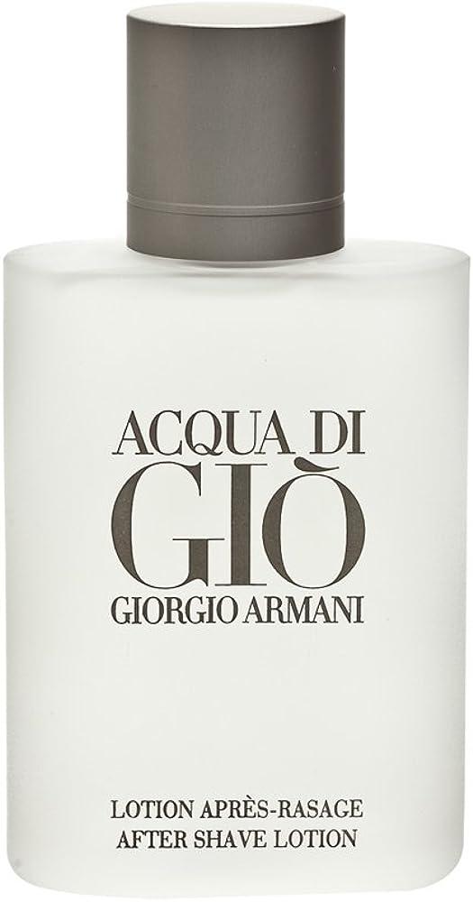 Giorgio armani, acqua gio`, dopobarba uomo asl, 100 ml 3360372058885