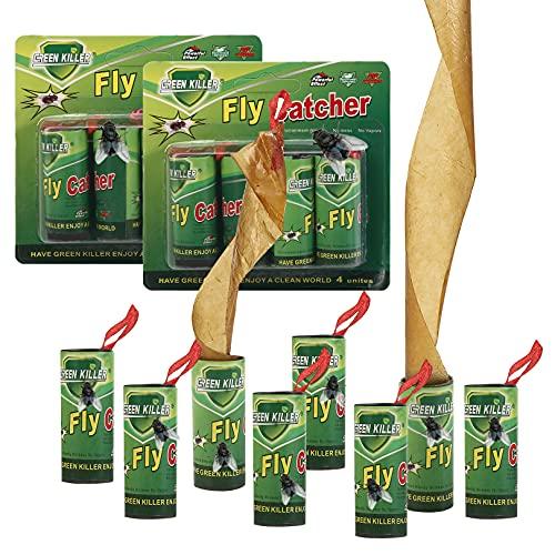 Atrapa Moscas,32 Piezas Trampa Moscas Eco-Nature No Tóxico Adhesivo Tiras Antimoscas,Trampas para Moscas de la Fruta Adhesivos para los Insectos para las Mosquitos Polillas Exterior Interior