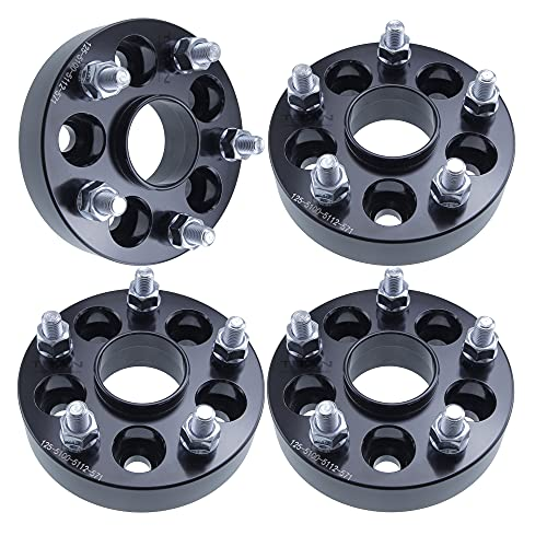 (4) 1' (25mm) Wheel Adapters 5x100 to 5x112 Hubcentric 5 Lug Models (Changes Bolt Pattern) Fits VW Fits Audi