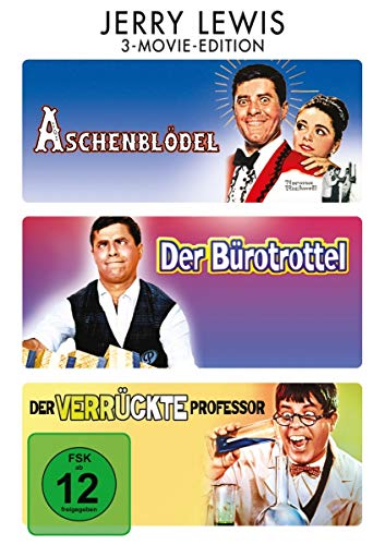 Jerry Lewis: 3-Movie-Edition ( Aschenblödel / Der Bürotrottel / Der verrückte Professor ) [3 DVDs]