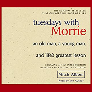 Tuesdays with Morrie audiobook cover art