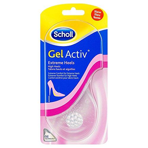 Scholl Gel Activ Einlegesohlen für High Heels und Schuhen mit Absätzen über 5,5 cm - Ultraweiche Gel Einlegesohle für extremen Komfort - 1 Paar, passend für Schuhgröße 35-40,5