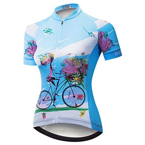 Weimostar Radfahren Jersey Frauen Kurzarm Fahrrad Shirts Team Fahrradjacke Mountainbike Kleidung Enge Tops