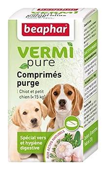 BEAPHAR – VERMIPURE – Comprimé hygiène digestive – Pour chiot et petit chien <15kg – Aux actifs naturels – Lutte contre l'indigestion – Renforce le système immunitaire – 50 comprimés