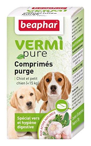 BEAPHAR – VERMIPURE – Comprimé hygiène digestive – Pour chiot et petit chien