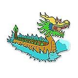 TLZDGX Sticker de Carro Etiqueta engomada del Coche Dragon Boat Accesorios Reflectantes de la Cubierta Impermeable rasguños Protector Solar CLORURO DE POLIVINILO Calcomanía, 10cm * 13cm