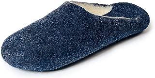 Gewenst Eugene Indoor House Slippers for Men Toddlers Kids US 10-13 Handmade 100% Wool