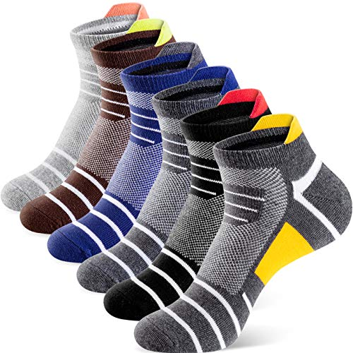Newdora Calcetines Tobilleros Hombre Mujer,6 Pares Calcetines Algodon para Deporte,Casa,Trabajo,Calcetines Cortos para Hombre Mujer, Calcetines Deportivos para Ciclismo,Correr etc.