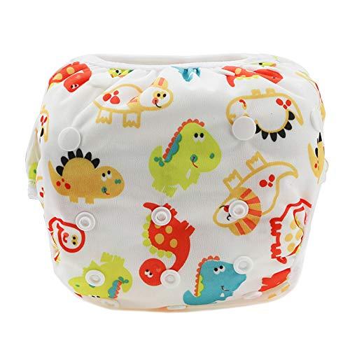 Wanked Baby Zwemluiers, zwemstam voor baby's, pasgeborenen, peuters, meisjes, schattig patroon, badpak, herbruikbaar voor 0-36 maanden, baby jongens meisjes Eén maat E