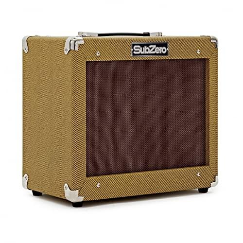 "Vintage 35W Practice Bass Amp SubZero V35B 10"" Speaker & 3-Band EQ"