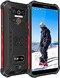 OUKITEL WP5 Pro Outdoor Handy, 8000mAh Großer Akku 4G Smartphone Ohne Vertrag, Dual SIM Quad-Core 4GB 64GB, IP68 Militär Mobiltelefon Android 10.0, Dreifachkamera, OTG GPS